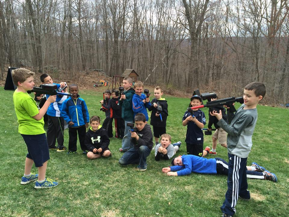 Backyard Laser Tag Birthday Party Rolling Video Games Of New England - Backyard laser tag