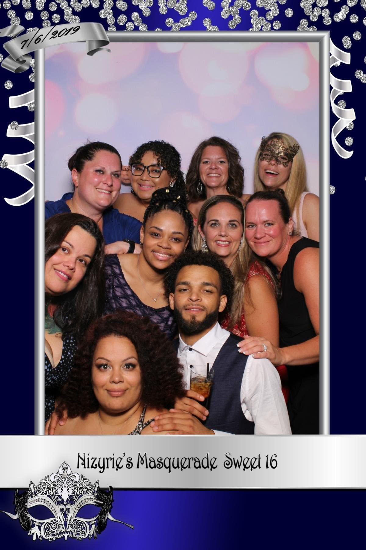 4x6 photo of a sweet 16 party