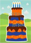 blue orange cake
