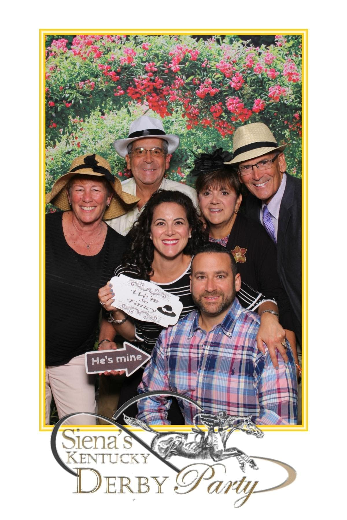 4x6 photo of a Kentucky derby party