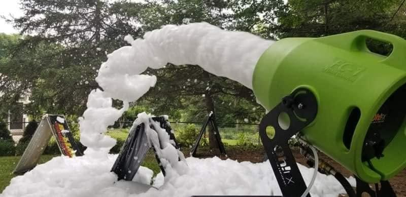 Foam machine letting out the foam