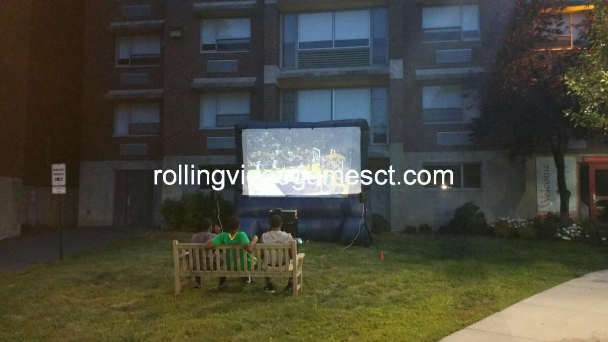 booger tag or inflatable tv party rolling video games