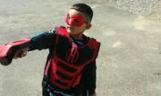 boy playing hero laser guns