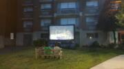 outdoor tv game party