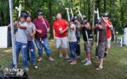 men shooting party