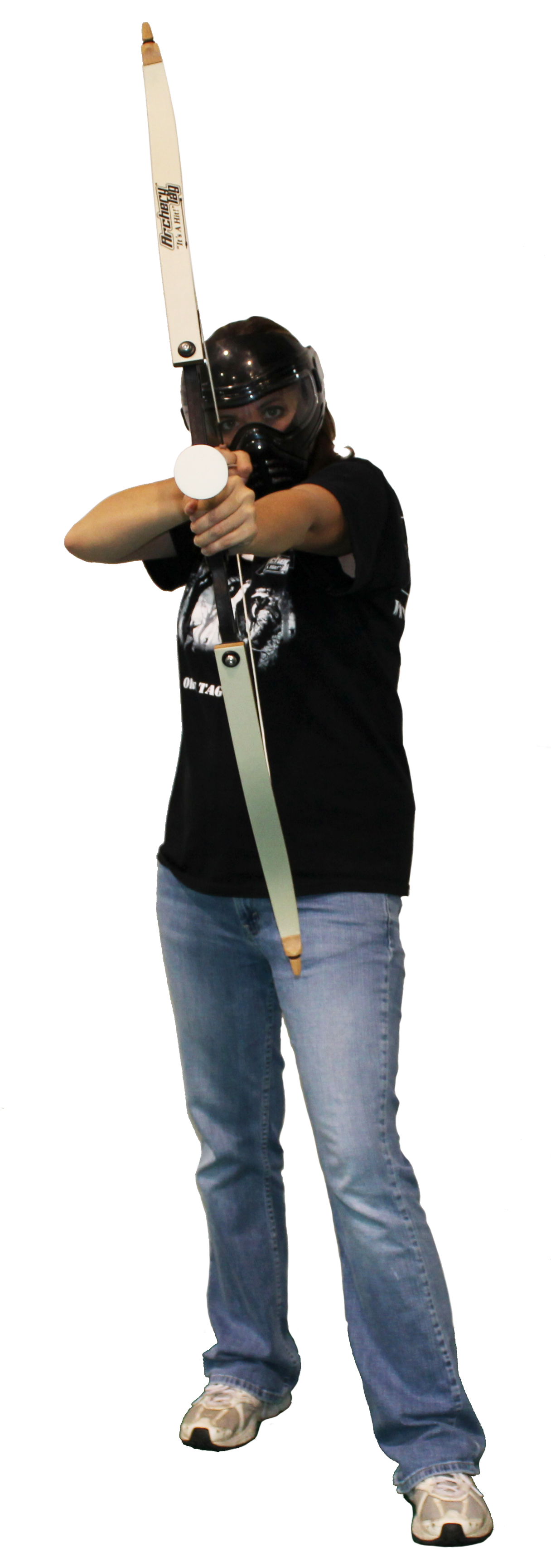 woman playing archery tag